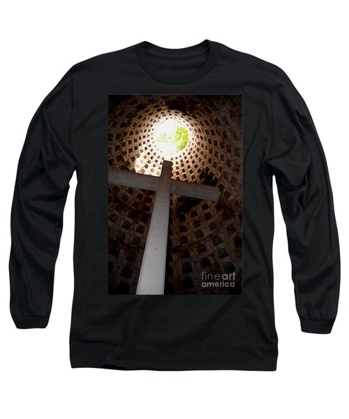 Xcaret Cemetery Catacomb Long Sleeve T-Shirt by Angela Murray