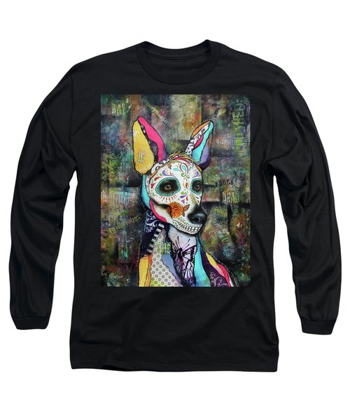 Xolo Mexican Hairless Day Of The Dead Long Sleeve T-Shirt