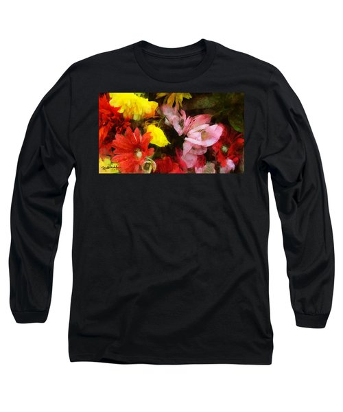 Xtreme Floral Nineteen Powerful In Pink Long Sleeve T-Shirt