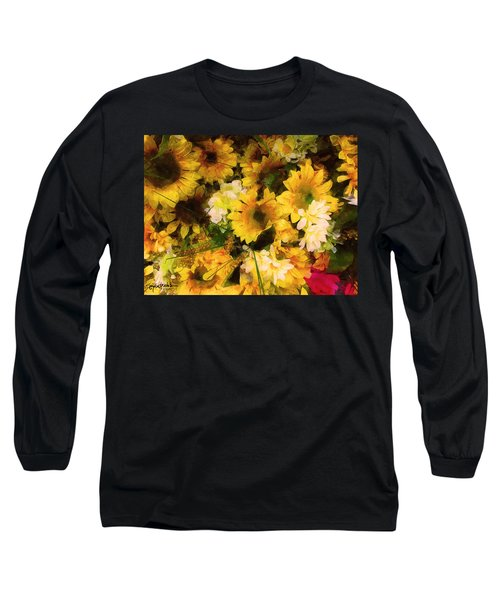 Hot Pink Hiding Xtreme Floral 21 Long Sleeve T-Shirt