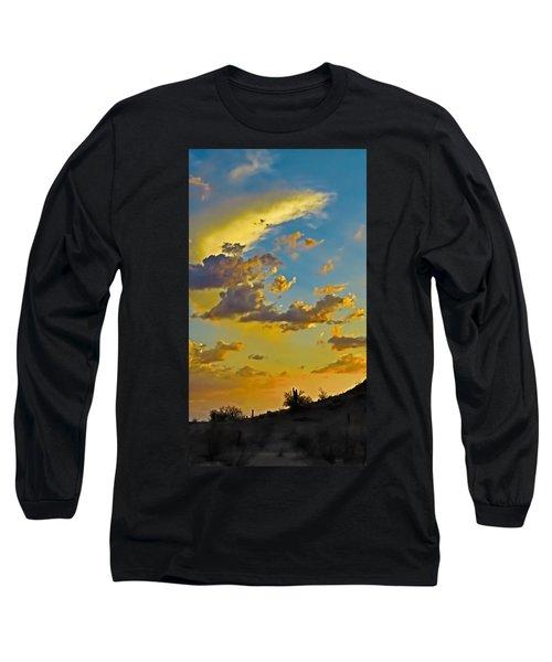 Y Cactus Sunset 10 Long Sleeve T-Shirt