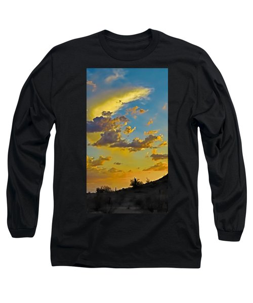 Y Cactus Sunset 10 Long Sleeve T-Shirt