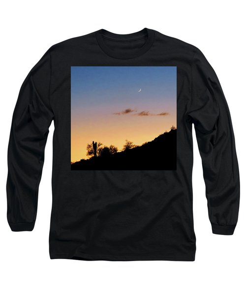 Y Cactus Sunset Moonrise Long Sleeve T-Shirt