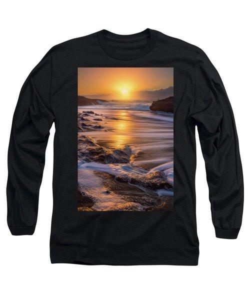 Long Sleeve T-Shirt featuring the photograph Yachats' Sun by Darren White