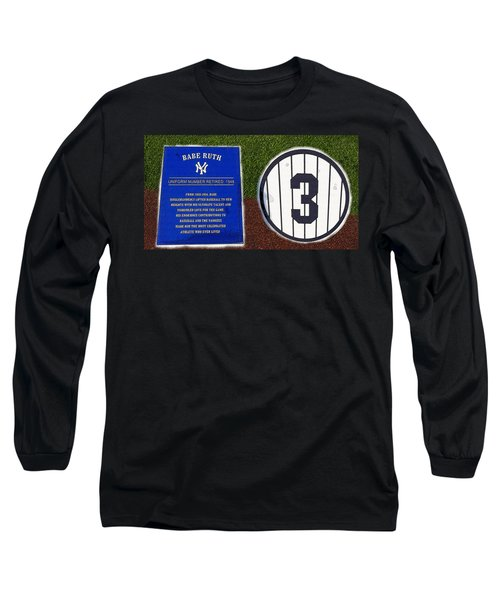 Yankee Legends Number 3 Long Sleeve T-Shirt by David Lee Thompson