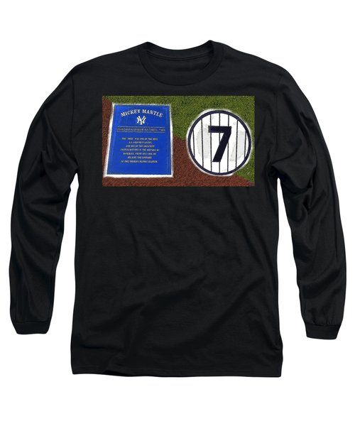 Yankee Legends Number 7 Long Sleeve T-Shirt by David Lee Thompson
