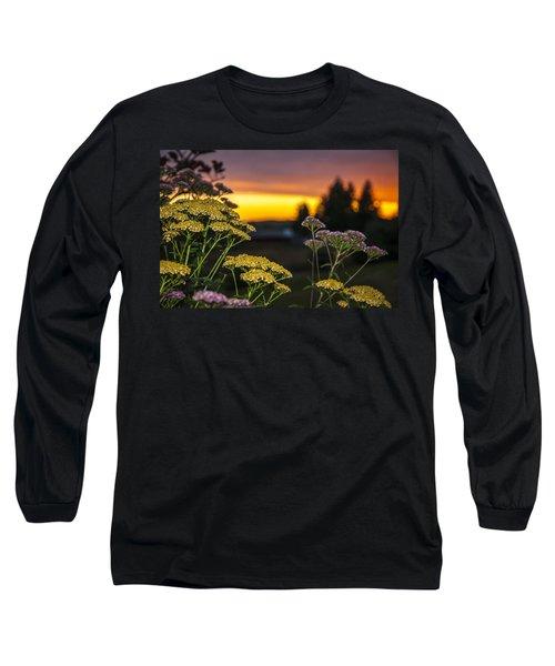 Yarrow At Sunset Long Sleeve T-Shirt