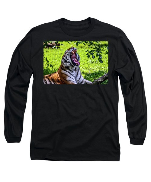 Yawning Tiger Long Sleeve T-Shirt