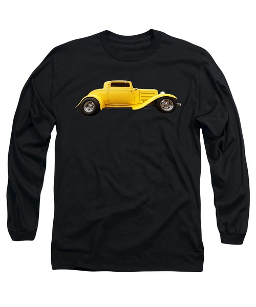 Yellow 32 Ford Deuce Coupe Long Sleeve T-Shirt