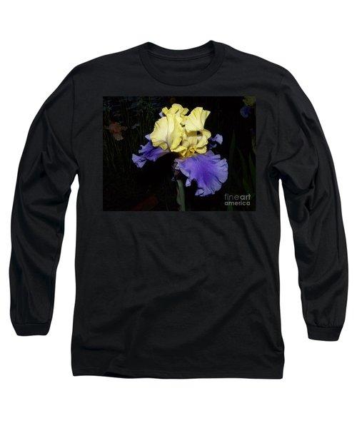 Yellow And Blue Iris Long Sleeve T-Shirt
