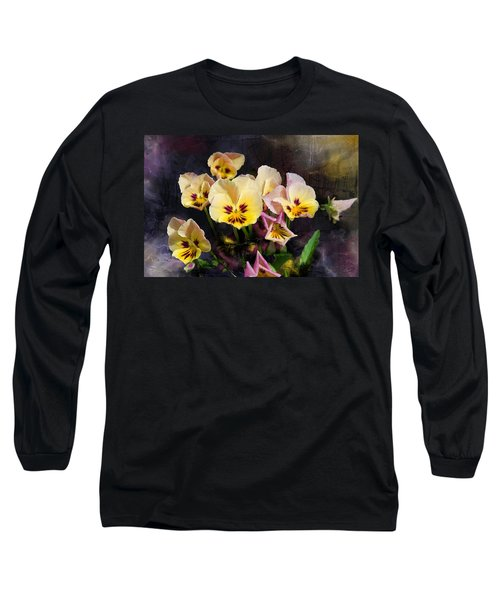 Yellow And Pink Pansies Long Sleeve T-Shirt
