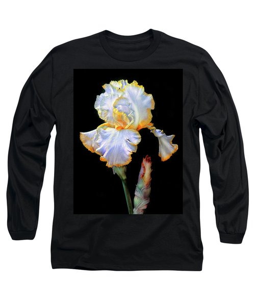 Yellow And White Iris Long Sleeve T-Shirt