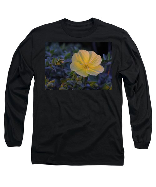 Long Sleeve T-Shirt featuring the photograph Yellow Beach Evening Primrose by Marie Hicks