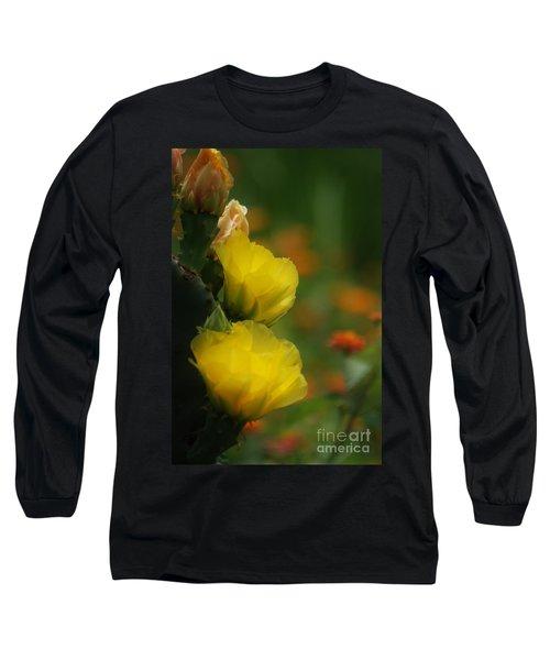 Yellow Cactus Flower Long Sleeve T-Shirt
