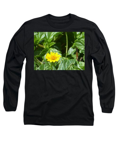Yellow Caribbean Flower Long Sleeve T-Shirt by Margaret Brooks