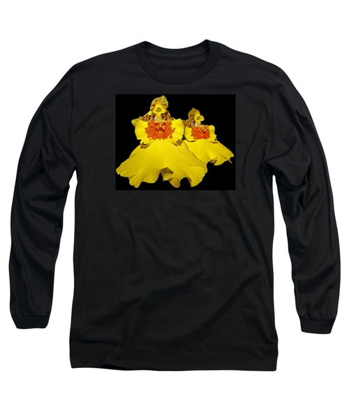 Long Sleeve T-Shirt featuring the photograph Yellow Dresses by Judy Vincent