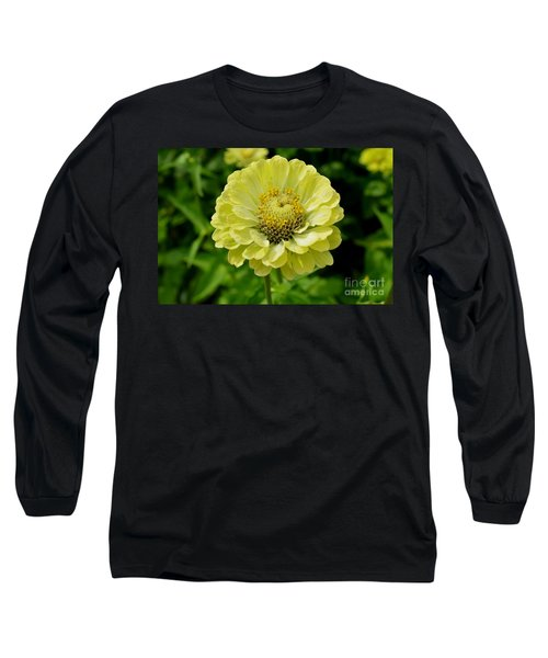 Yellow On Yellow Long Sleeve T-Shirt by Lew Davis