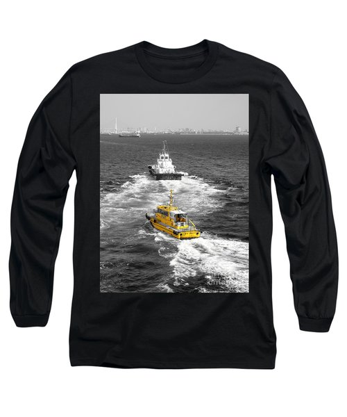 Yellow Pilot Yokohama Port Long Sleeve T-Shirt