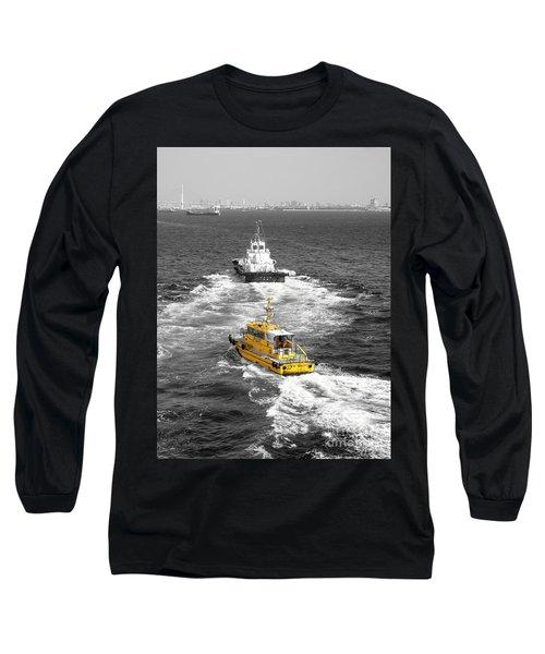 Yellow Pilot Yokohama Port Long Sleeve T-Shirt