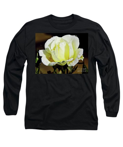 Yellow Rose Dew Drops Long Sleeve T-Shirt