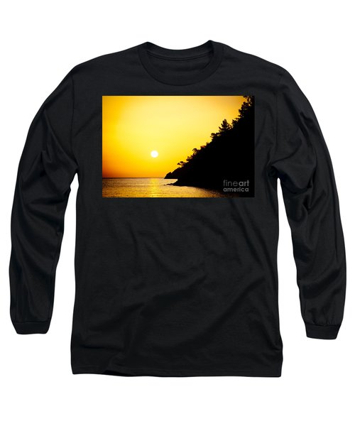 Yellow Sunrise Seascape And Sun Artmif  Long Sleeve T-Shirt