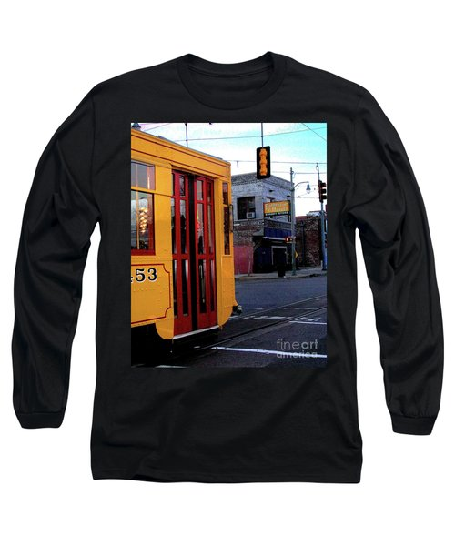 Yellow Trolley At Earnestine And Hazels Long Sleeve T-Shirt