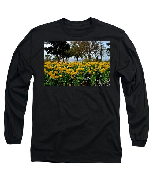 Yellow Tulips Of Fairhope Alabama Long Sleeve T-Shirt