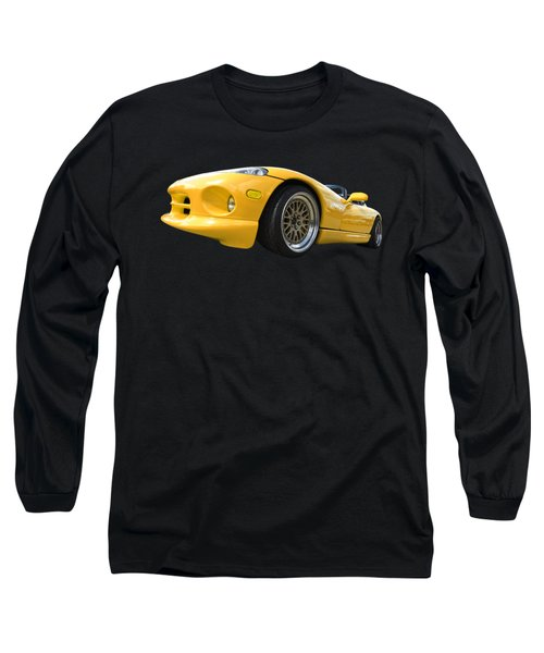 Yellow Viper Rt10 Long Sleeve T-Shirt by Gill Billington