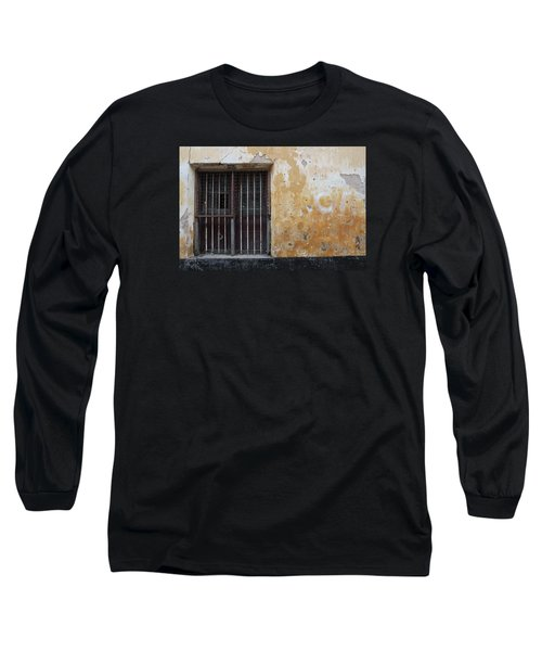 Yellow Wall, Gated Door Long Sleeve T-Shirt by Jennifer Mazzucco