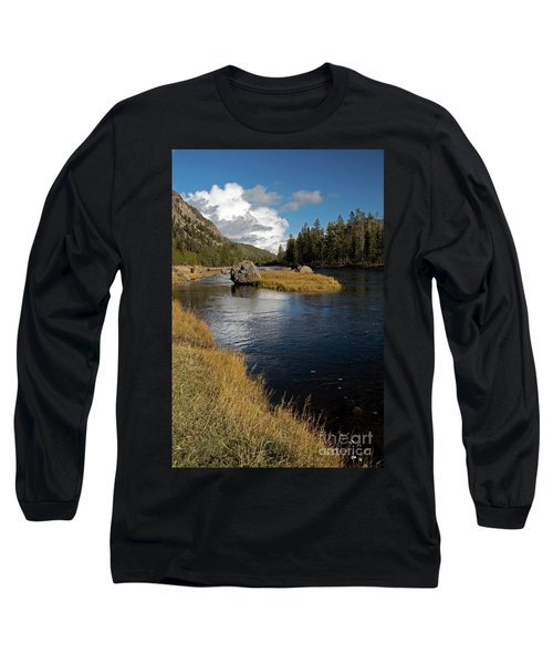 Yellowstone Nat'l Park Madison River Long Sleeve T-Shirt by Cindy Murphy - NightVisions