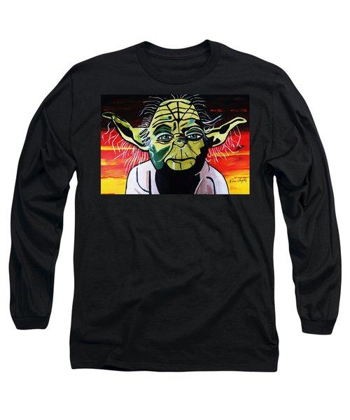Yoda  Come Home Long Sleeve T-Shirt by Nora Shepley