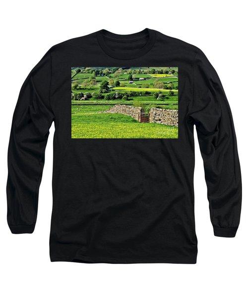 Yorkshire Dales Landscape Long Sleeve T-Shirt
