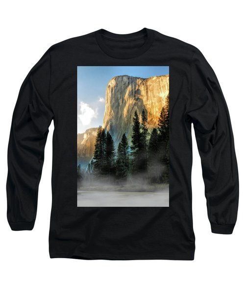 Long Sleeve T-Shirt featuring the painting Yosemite National Park El Capitan by Christopher Arndt