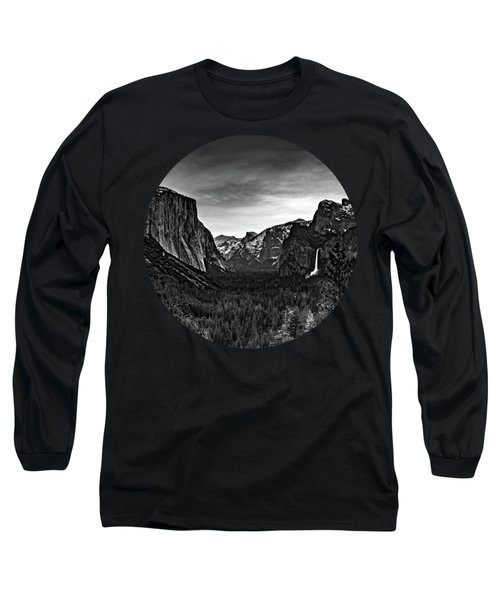 Yosemite Sunrise, Black And White Long Sleeve T-Shirt