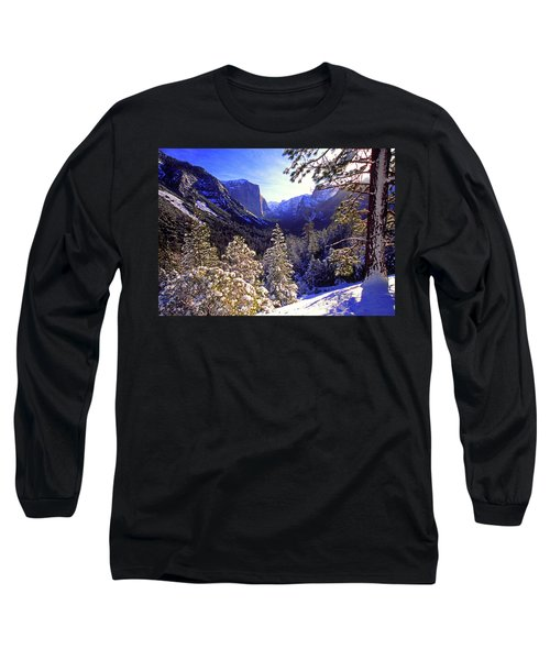 Yosemite Valley In Winter, California Long Sleeve T-Shirt