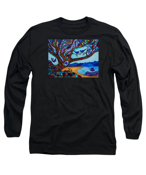 Love Is All Around Us Long Sleeve T-Shirt by Lori Miller