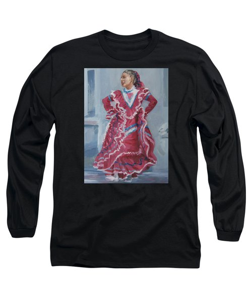 Young Dancer At Arneson Theater Long Sleeve T-Shirt