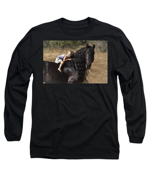Young Rider Long Sleeve T-Shirt by Wes and Dotty Weber