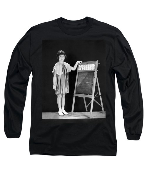Young Student At Blackboard Long Sleeve T-Shirt