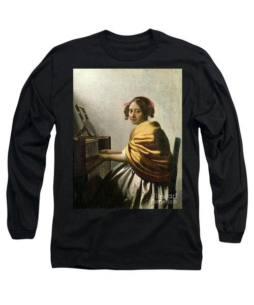 Young Woman At A Virginal Long Sleeve T-Shirt