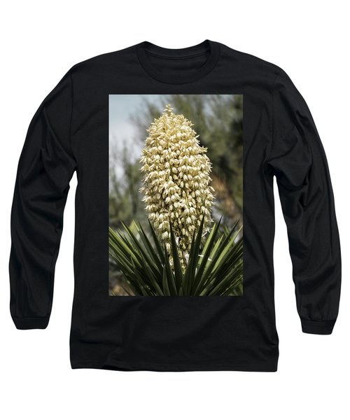 Long Sleeve T-Shirt featuring the photograph Yucca Flowers In Bloom  by Saija Lehtonen