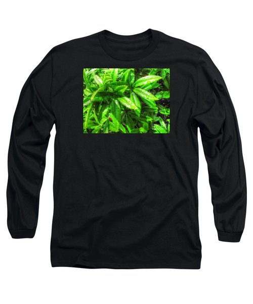 Long Sleeve T-Shirt featuring the pyrography Yury Bashkin Greeeeenno by Yury Bashkin