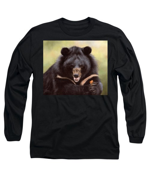 Zebedee Moon Bear - In Support Of Animals Asia Long Sleeve T-Shirt