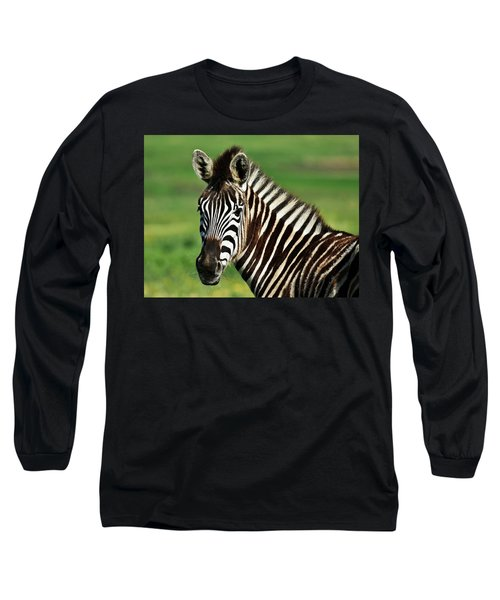 Zebra Close Up Long Sleeve T-Shirt