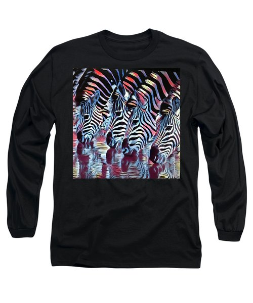 Zebra Dazzle Long Sleeve T-Shirt
