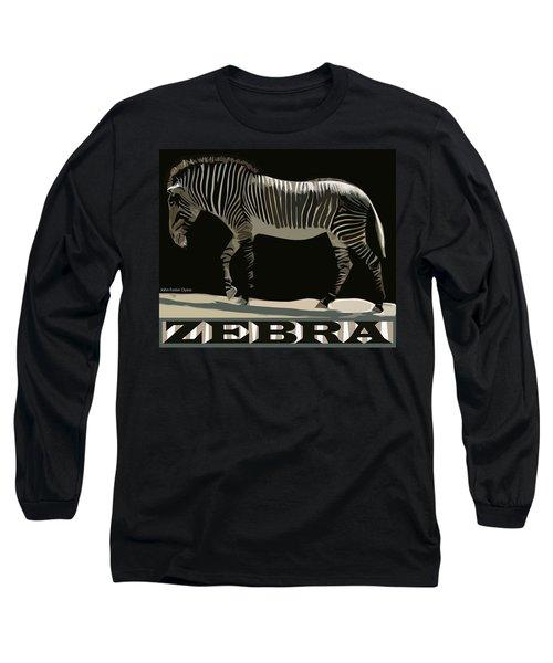 Zebra Design By John Foster Dyess Long Sleeve T-Shirt