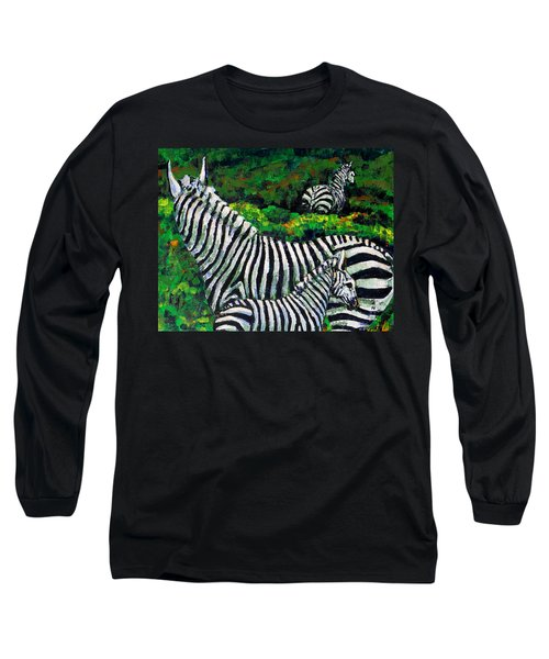 Zebra Family Long Sleeve T-Shirt
