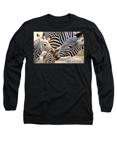 Zebra Mother And Calf Long Sleeve T-Shirt