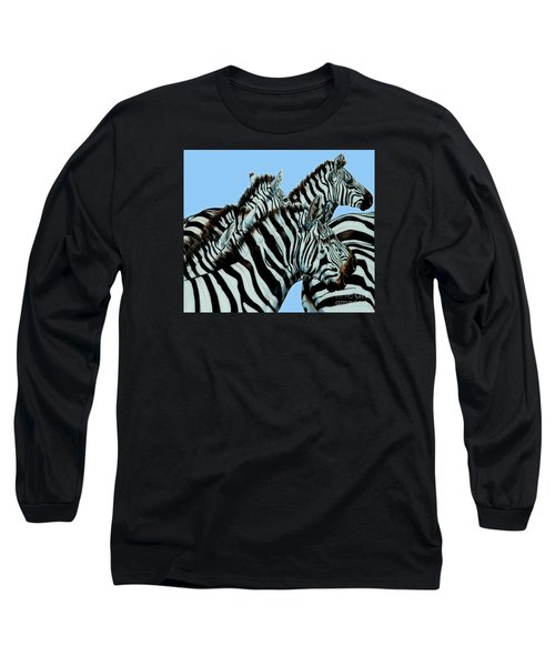 Zebra's In A Herd Long Sleeve T-Shirt