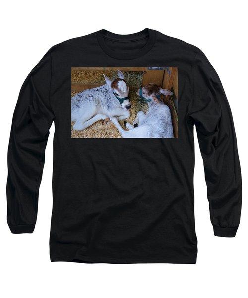 Zebu Calves Long Sleeve T-Shirt by Warren Thompson